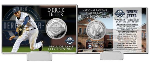 Highland Mint New York Yankees Derek Jeter Hall of Fame 2020 Silver Coin Card product image