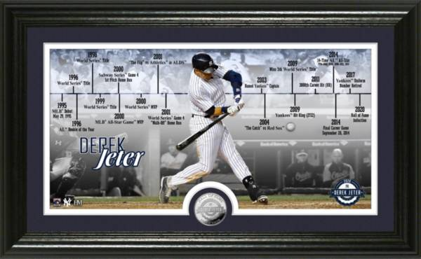 Highland Mint New York Yankees Derek Jeter Hall of Fame 2020 Timeline Silver Coin Photo Mint product image