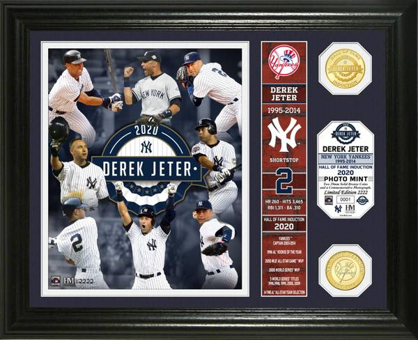 Highland Mint New York Yankees Derek Jeter Hall of Fame 2020 Banner Bronze Coin product image