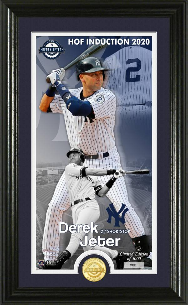Highland Mint New York Yankees Derek Jeter Hall of Fame 2020 Induction Supreme Bronze Coin Photo Mint product image