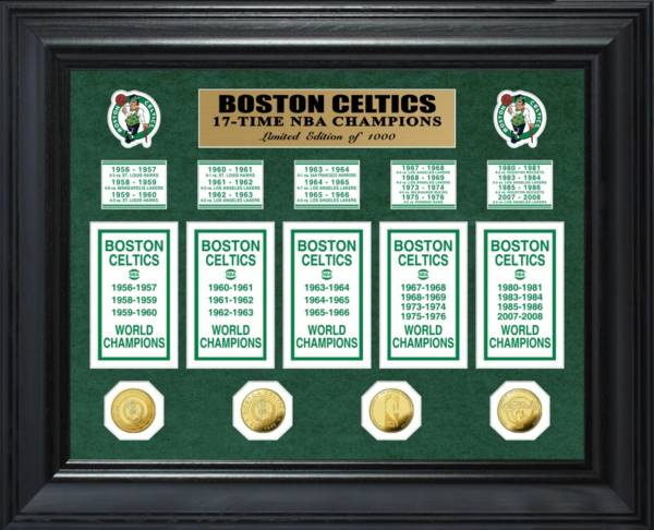 Highland Mint Boston Celtics 17-Time NBA Champions Deluxe Banner Collection Photo Mint product image