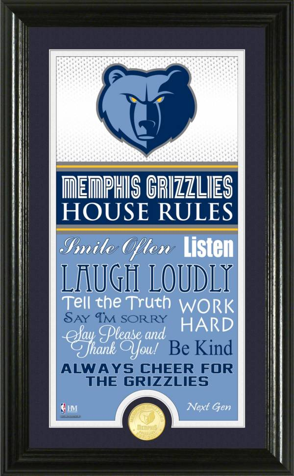 Highland Mint Memphis Grizzlies House Rules Bronze Coin Photo Mint product image