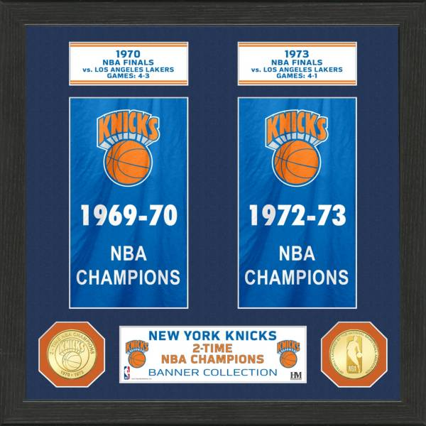 Highland Mint New York Knicks Banner Bronze Coin Photo Mint product image