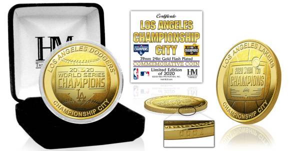 Highland Mint Los Angeles Dodgers-Lakers City of Champions Gold Mint Coin product image