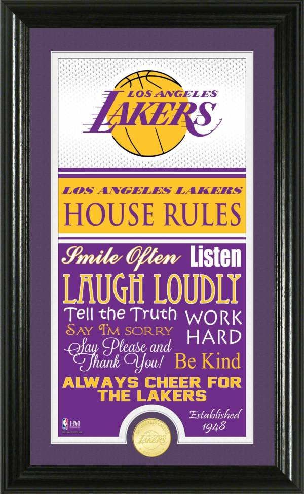 Highland Mint Los Angeles Lakers House Rules Bronze Coin Photo Mint product image
