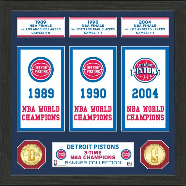 Highland Mint Detroit Pistons Banner Bronze Coin Photo Mint product image