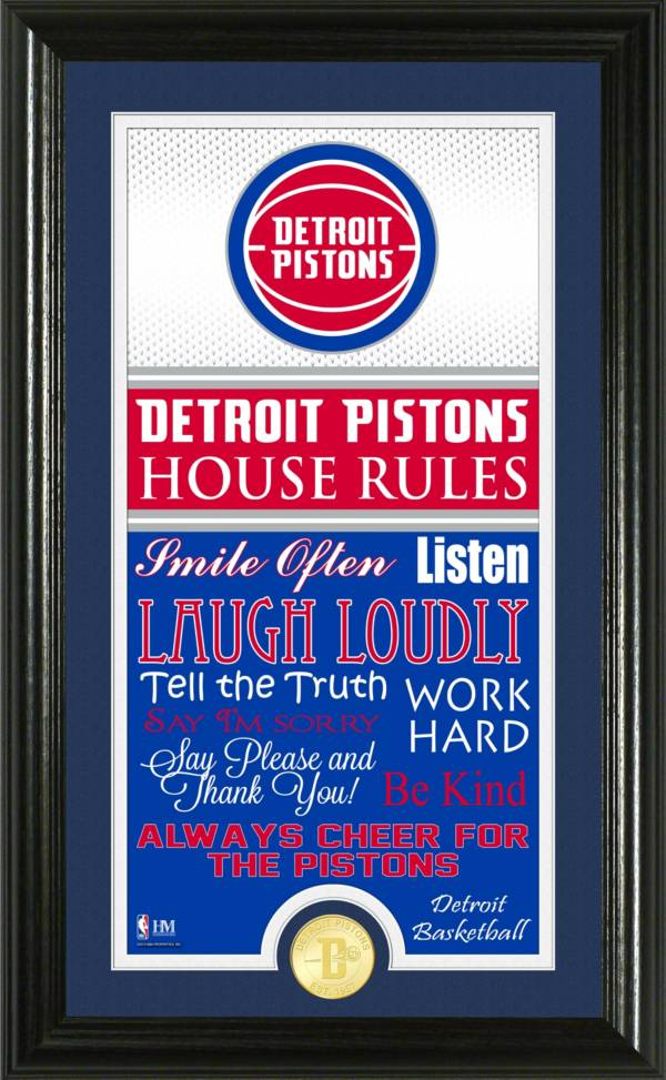Highland Mint Detroit Pistons House Rules Bronze Coin Photo Mint product image