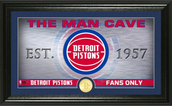 Highland Mint Detroit Pistons Man Cave Panoramic Bronze Coin Photo Mint product image