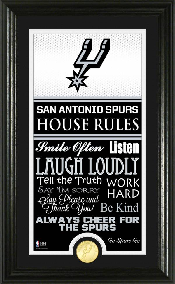 Highland Mint San Antonio Spurs House Rules Bronze Coin Photo Mint product image