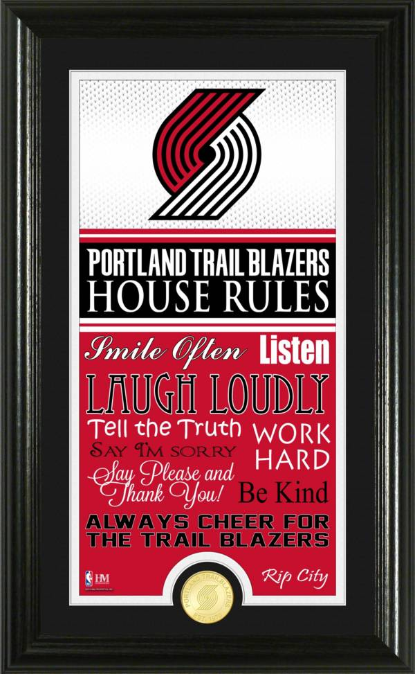 Highland Mint Portland Trailblazers House Rules Bronze Coin Photo Mint product image