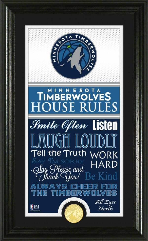 Highland Mint Minnesota Timberwolves House Rules Bronze Coin Photo Mint product image