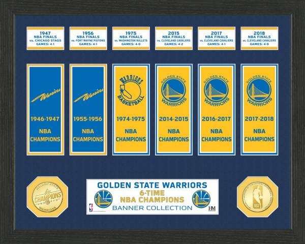 Highland Mint Golden State Warriors Banner Bronze Coin Photo Mint product image