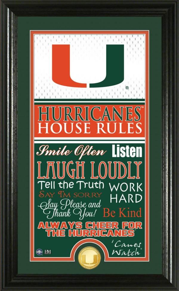 Highland Mint Miami Hurricanes House Rules Photo product image
