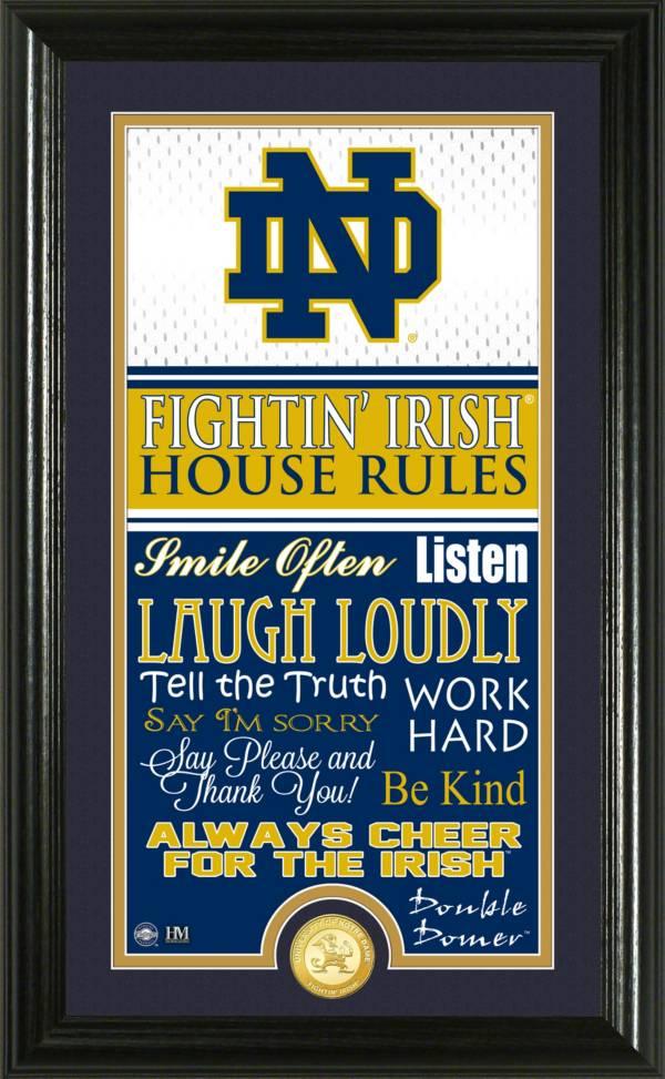 Highland Mint Notre Dame Fighting Irish House Rules Photo product image