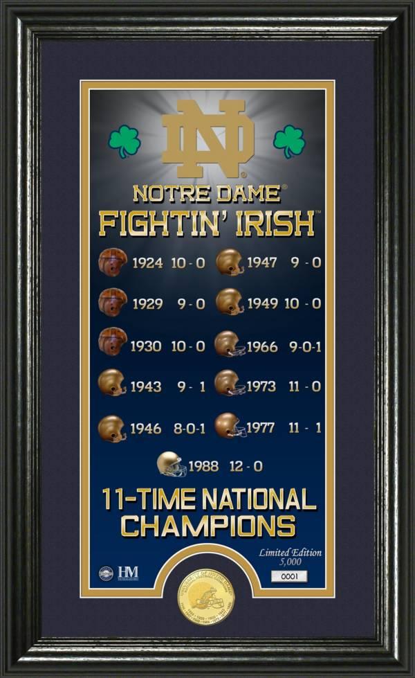 Highland Mint Notre Dame Fighting Irish Legacy Photo product image