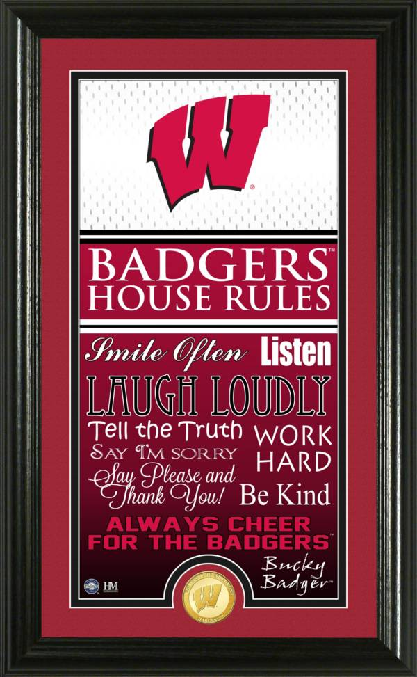 Highland Mint Wisconsin Badgers House Rules Photo product image