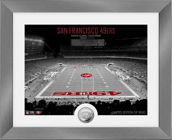 Highland Mint San Francisco 49ers Art Deco Stadium Silver Coin Photo Mint product image