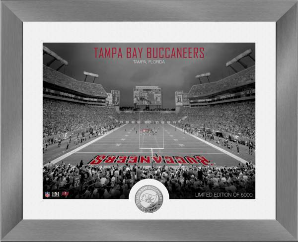 Highland Mint Tampa Bay Buccaneers Art Deco Stadium Silver Coin Photo Mint product image