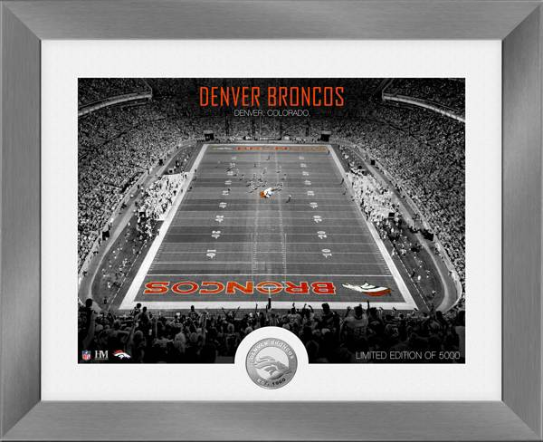 Highland Mint Denver Broncos Art Deco Stadium Silver Coin Photo Mint product image