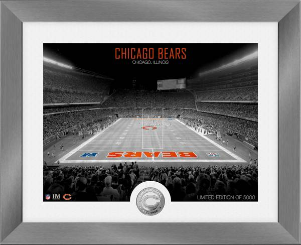 Highland Mint Chicago Bears Art Deco Stadium Silver Coin Photo Mint product image