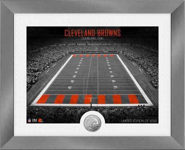 Highland Mint Cleveland Browns Art Deco Stadium Silver Coin Photo Mint product image