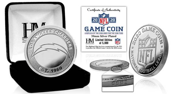 Highland Mint Los Angeles Chargers 2020 Flip Coin product image