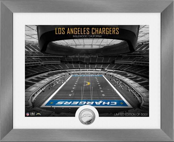 Highland Mint Los Angeles Chargers Art Deco Stadium Silver Coin Photo Mint product image