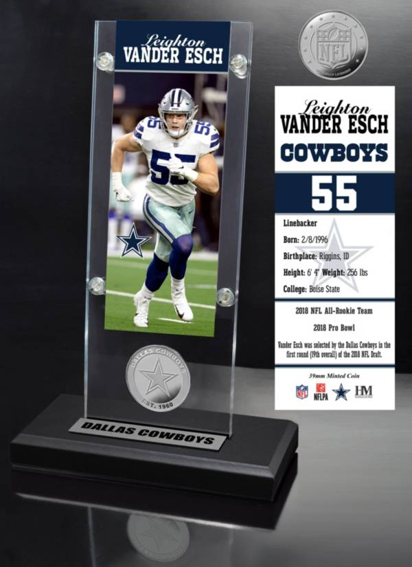 Highland Mint Dallas Cowboys Leighton Vander Esch Ticket Coin Desktop Display product image
