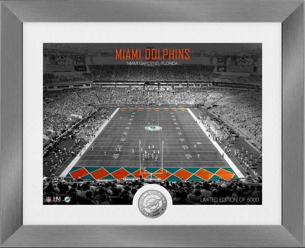 Highland Mint Miami Dolphins Art Deco Stadium Silver Coin Photo Mint product image