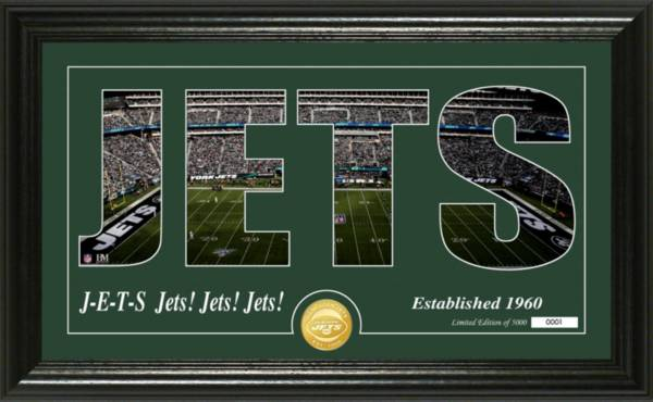 Highland Mint New York Jets Silhouette Coin Photo Mint product image