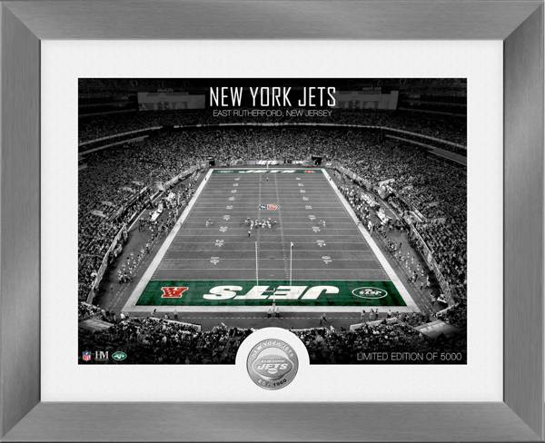 Highland Mint New York Jets Art Deco Stadium Silver Coin Photo Mint product image