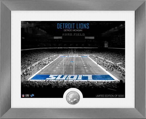 Highland Mint Detroit Lions Art Deco Stadium Silver Coin Photo Mint product image