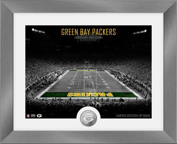 Highland Mint Green Bay Packers Art Deco Stadium Silver Coin Photo Mint product image