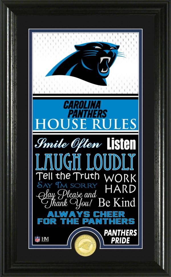 Highland Mint Carolina Panthers House Rules Photo product image