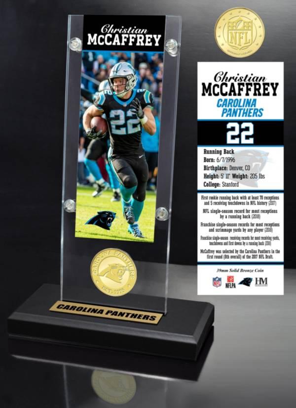 Highland Mint Carolina Panthers Chrisitan McCaffrey Ticket Coin Desktop Display product image