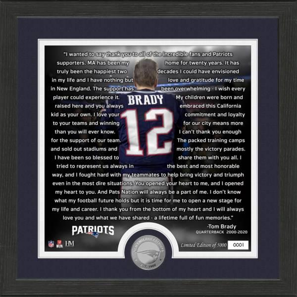 Highland Mint New England Patriots Tom Brady Farewell Photo product image
