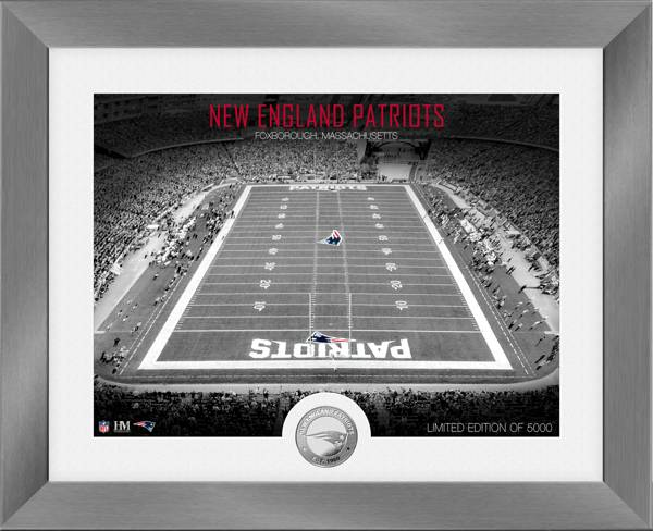 Highland Mint New England Patriots Art Deco Stadium Silver Coin Photo Mint product image