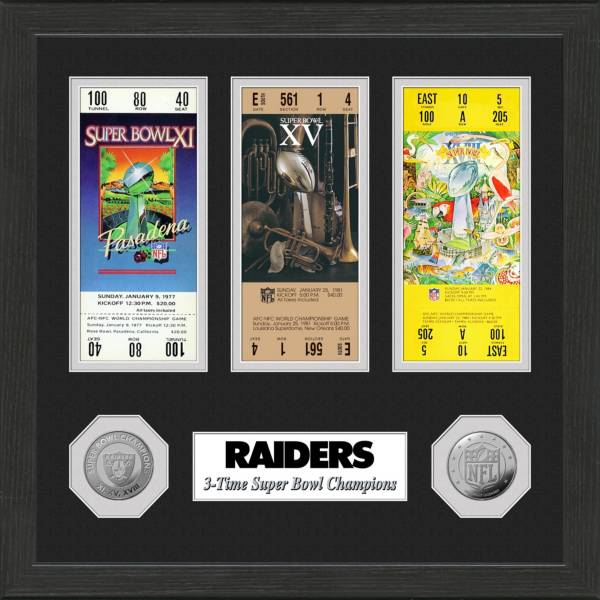 Highland Mint Oakland Raiders Super Bowl Apperances Coin and Ticket Collection product image