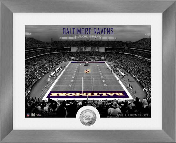 Highland Mint Baltimore Ravens Art Deco Stadium Silver Coin Photo Mint product image