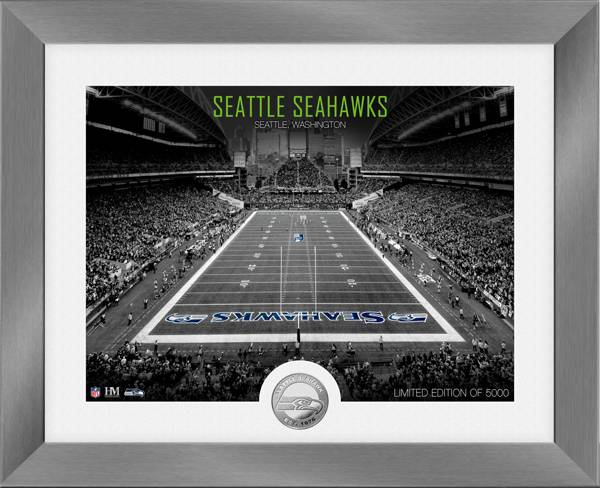 Highland Mint Seattle Seahawks Art Deco Stadium Silver Coin Photo Mint product image