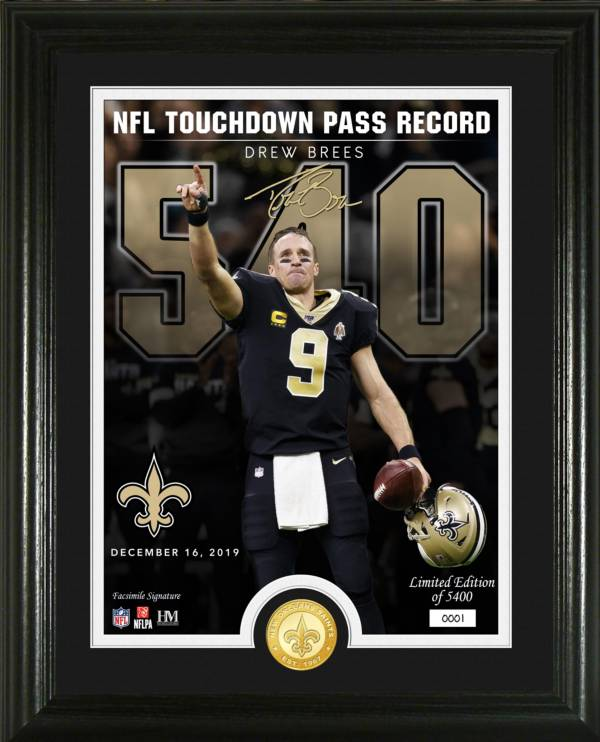 Highland Mint New Orleans Saints Drew Brees TD Passing Record Photo Mint product image