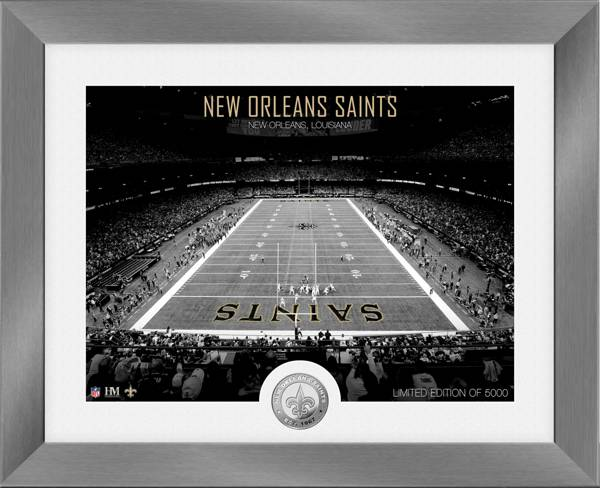 Highland Mint New Orleans Saints Art Deco Stadium Silver Coin Photo Mint product image