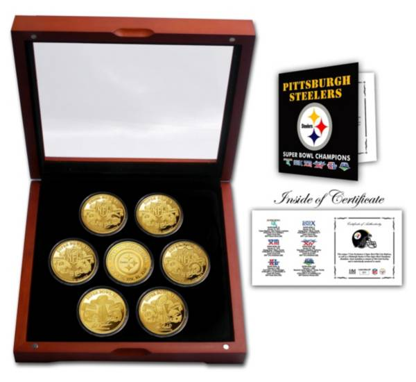 Highland Mint Pittsburgh Steelers 7x Super Bowl Champions Coin Set product image