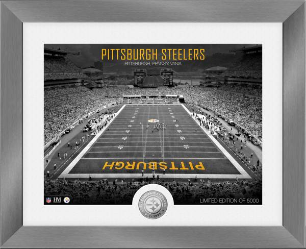 Highland Mint Pittsburgh Steelers Art Deco Stadium Silver Coin Photo Mint product image