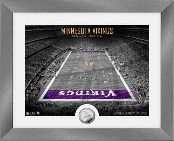 Highland Mint Minnesota Vikings Art Deco Stadium Silver Coin Photo Mint product image
