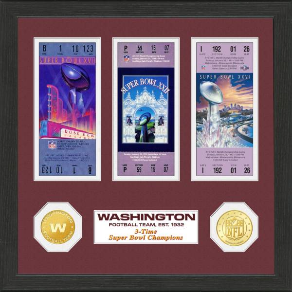 Highland Mint Washington Football Team Super Bowl Apperances Coin and Ticket Collection product image