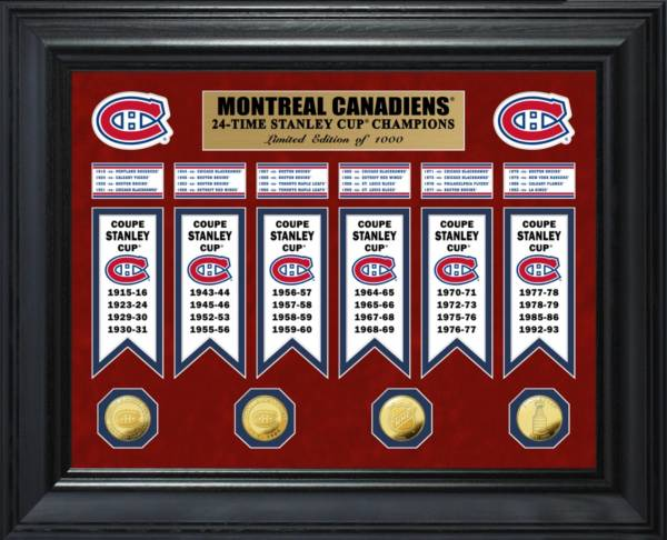 Highland Mint Montreal Canadiens Stanley Cup Champions Deluxe Gold Coin & Banner Collection product image