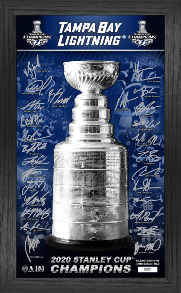 Highland Mint 2020 Stanley Cup Champions Tampa Bay Lightning Signature Trophy Photo Frame product image