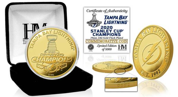 Highland Mint 2020 Stanley Cup Champions Tampa Bay Lightning Gold Mint Coin product image