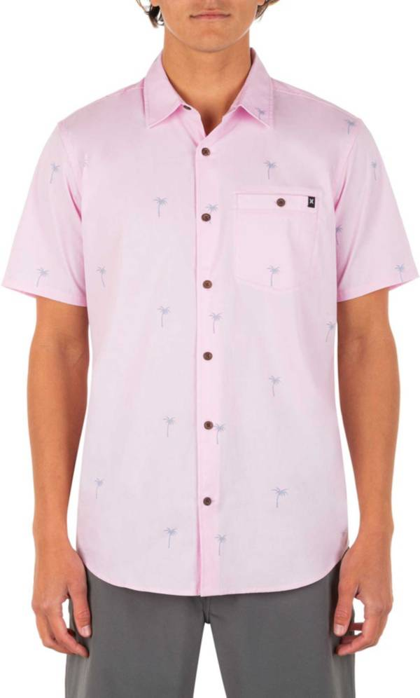 Hurley Men's Organic Wind and Sea Short Sleeve Button Down Shirt product image